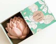 Cherry Blossom Lotus Soap - Natural, Handmade, Cold Processed, Vegan.