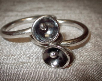 Silver mobile ring