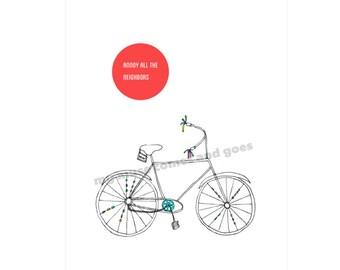 Print - Bicycle-