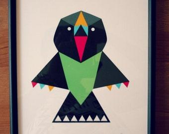 Totem Bird Print