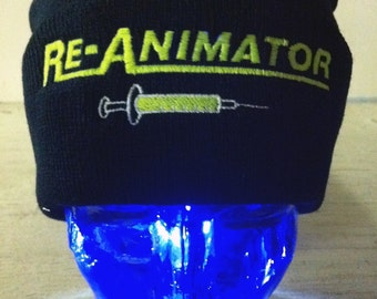 80's old school horror Re-Animator beanie