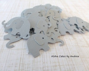 Elephant Confetti, Elephant Baby Shower Decorations, Tiny Gray Elephant Punch Out, Table Decor, Party Decorations, Set of 100