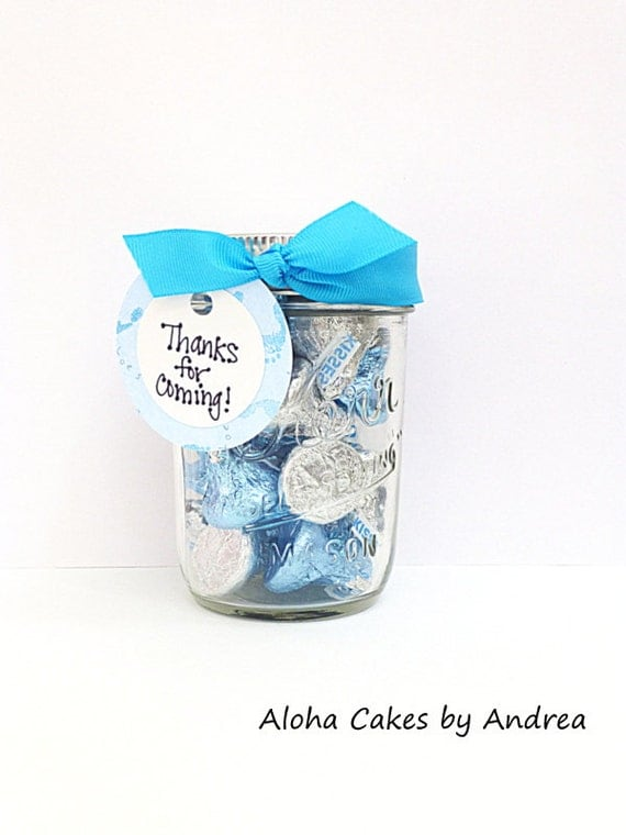 baby shower favor it 39 s a boy mason jar thank you gift blue white