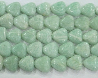 12mm Triangle Amazonite Green Semi Precious Gemstone 15''L 6242