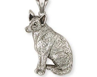 Sterling Silver Australian Cattle Dog Jewelry  ACD1-P