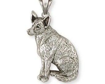 Sterling Silver Australian Cattle Dog Jewelry  ACD1-P