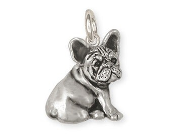 Sterling Silver French Bulldog Frenchie Charm Jewelry  FR23-C