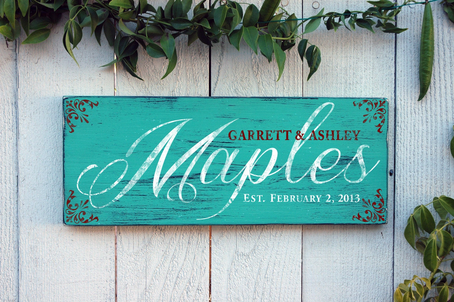 Last Names: Personalized Family Last Name Sign Rustic Wood By