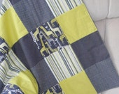 Baby Blanket with Minky Backing in Giraffe Love by Michael Miller