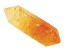Citrine Point Double Terminated Quartz Crystal