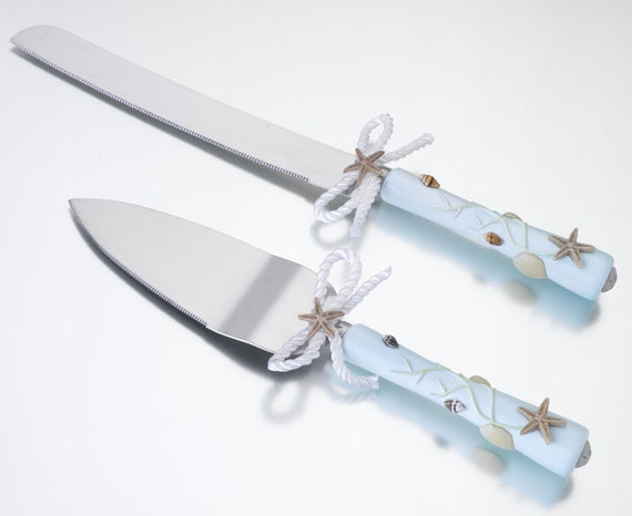 beach theme wedding cake serving set wedding theme design cake knife amp server set custom 11164