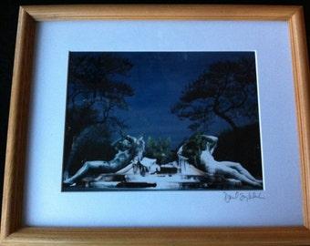 "Signed Philadelphia Photography -  ""Logan Circle on Ice""  by David Lorenz Winston"