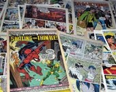 100 Vintage Mixed Comic Book Pages