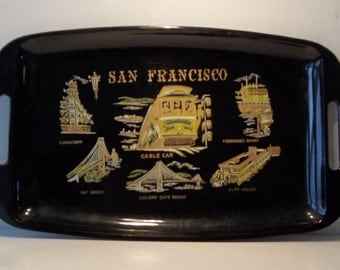 vintage san francisco tray made in japan