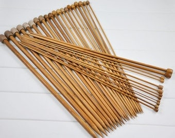 18 sets carbonized bamboo knitting needles 10 inches