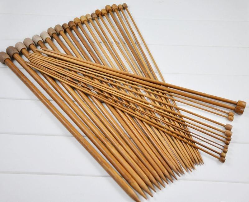 Knitting Needle Sets Uk : Sets carbonized bamboo knitting needles inch or