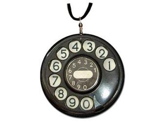 Vintage Telephone - pendant handmade