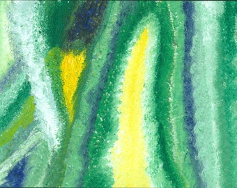 Abstract blue and green painting (3 of 3)