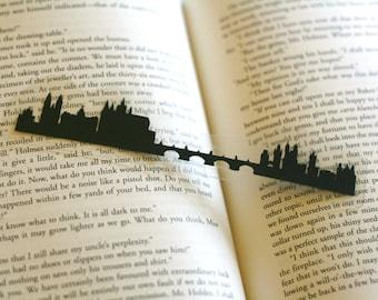 Prague, Czech Republic - Hand-cut Silhouette Bookmark, Prague Skyline, Travel Bookmark, Cut Paper