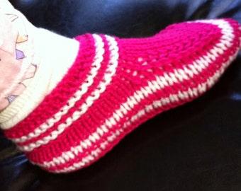 fuchsia women / teen slippers  Ready to ship