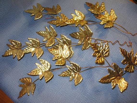 Maple Branchgold Colored Leaves Copper Artmetal Artmetal