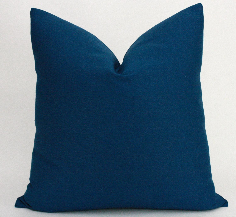 Indigo Blue Pillow Cover 20 x 20 inches Decorative Throw