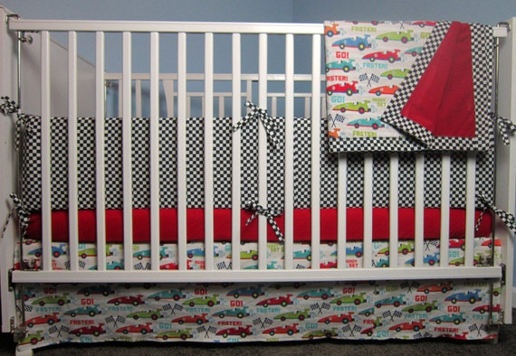 Items Similar To New Go Fast Race Car Baby Crib Toddler