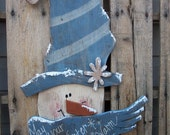 Winter Greetings Snowman Wood Craft Pattern for Winter and Christmas - KaylasKornerDesigns