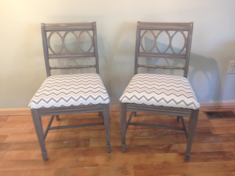 Pair vintage bernhardt dining chairs
