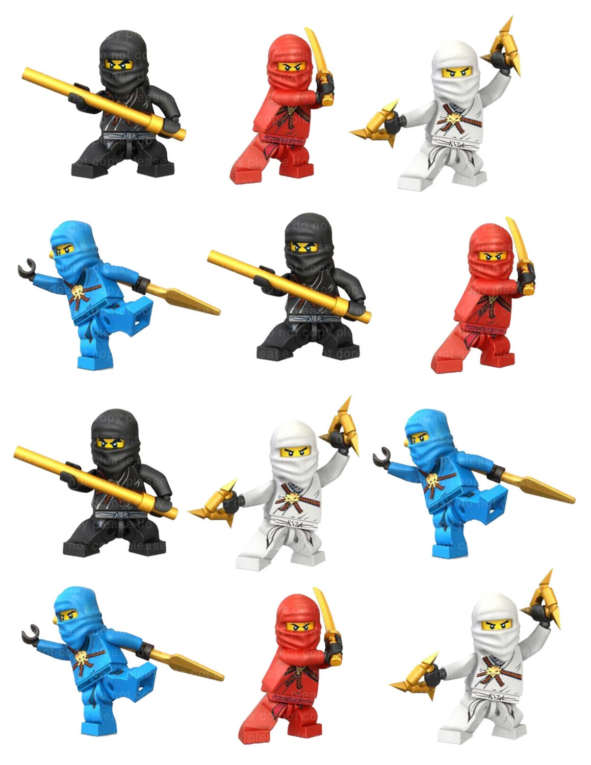 Lego Ninjago Wall Stickers Ninjago Stickers Pictures To Pin On Pinterest Thepinsta