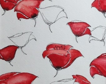 Red Poppies Painting