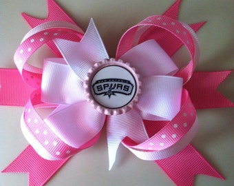 pink Spurs bow