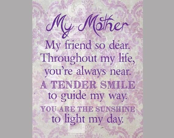 My Mom My Friend Poem 75