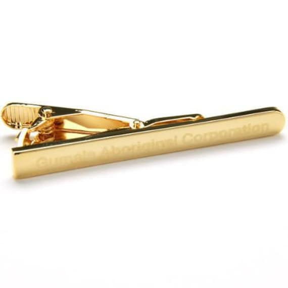 gold engraved tie bar