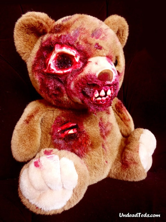 UnDeadTed with gouged eye and exposed teeth & ribs.