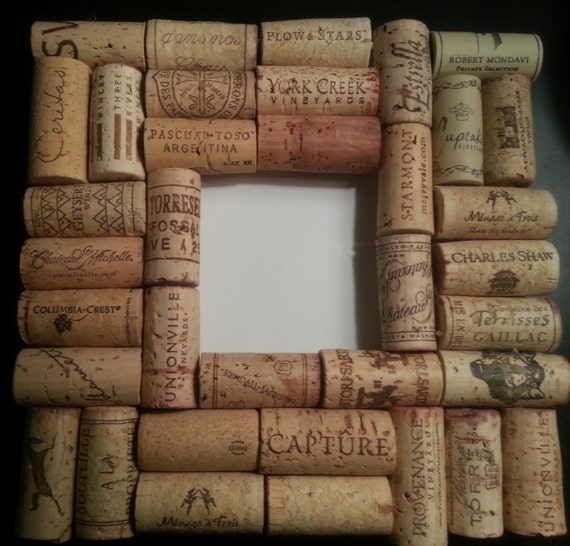 Wine Cork Picture Frame by JenFlips on Etsy