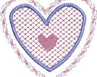 Valentine embroidery 1