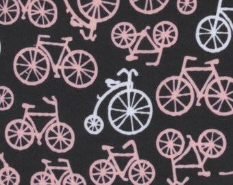 Michael Miller Pink Gray Bicycles - 1 yard