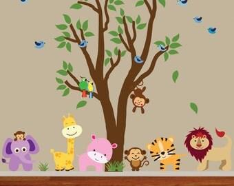 Jungle Animals Decal REUSABLE - 613