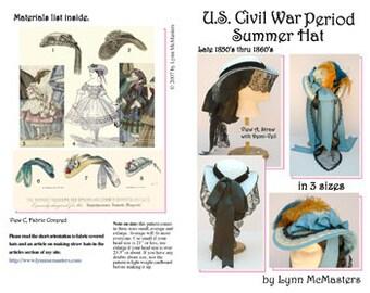 MC42  - U.S. Civil War Period Hat Sewing Pattern by Lynn McMasters