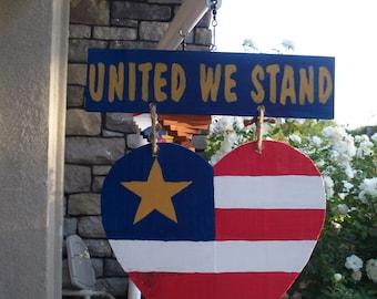 United We Stand Door Hanger