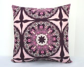 Purple Suzani Pillow Cover - CariJoyDesigns