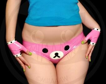 Kawaii Teddy Bear latex Set (Panties & Mitts)