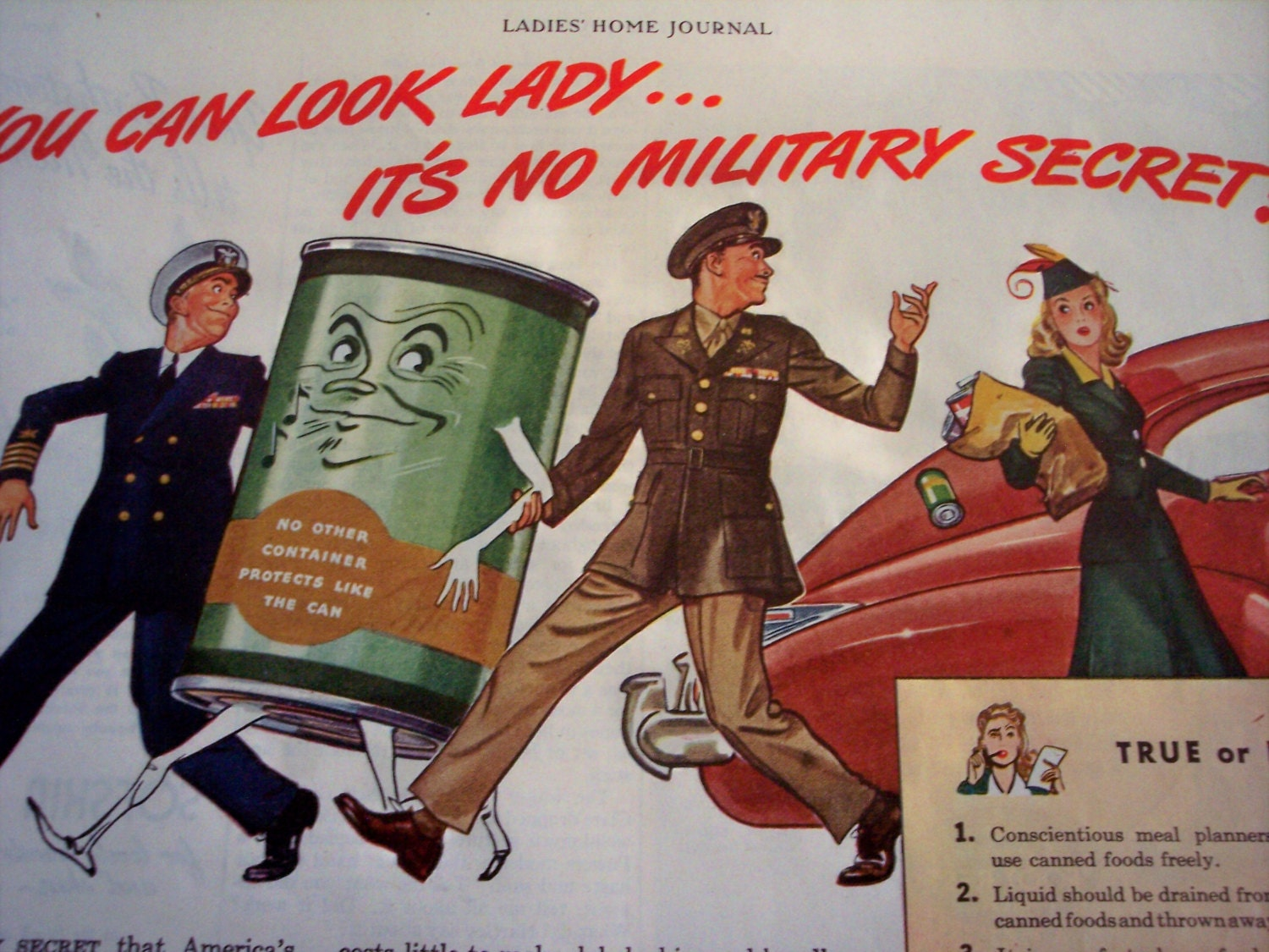 1944 Wwii Ad Can Manufacturers Institute Food Storage