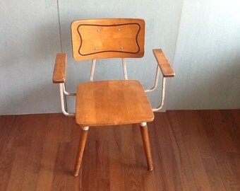 Mid century chair desk chair industrial chair industrial furniture industrial chic furniture metal chair hill rom