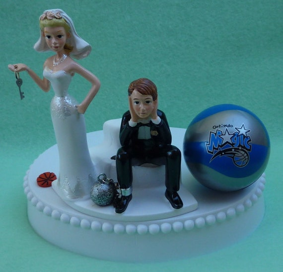 wedding cake toppers orlando fl wedding cake topper orlando magic basketball themed and 26567