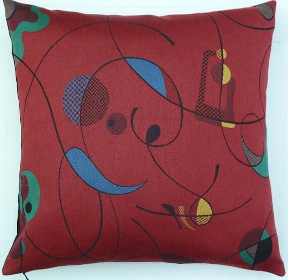 Maia Modern Pillows : Mid Century Modern Eames Era look accent throw Pillow
