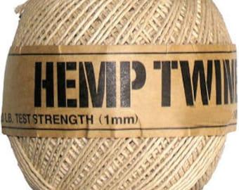 hemp twine cord 430ft 1mm