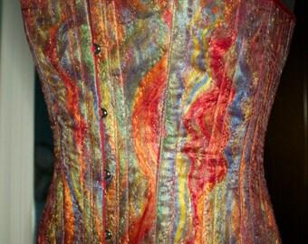Fabulous Firebird corset for a curvy lady