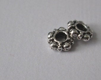 Antique Silver Bead spacer, 100pc Tibetan silver spacers, 5.8mm, Lead & Cadmium Free